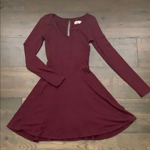 Burgundy Hollister Dress